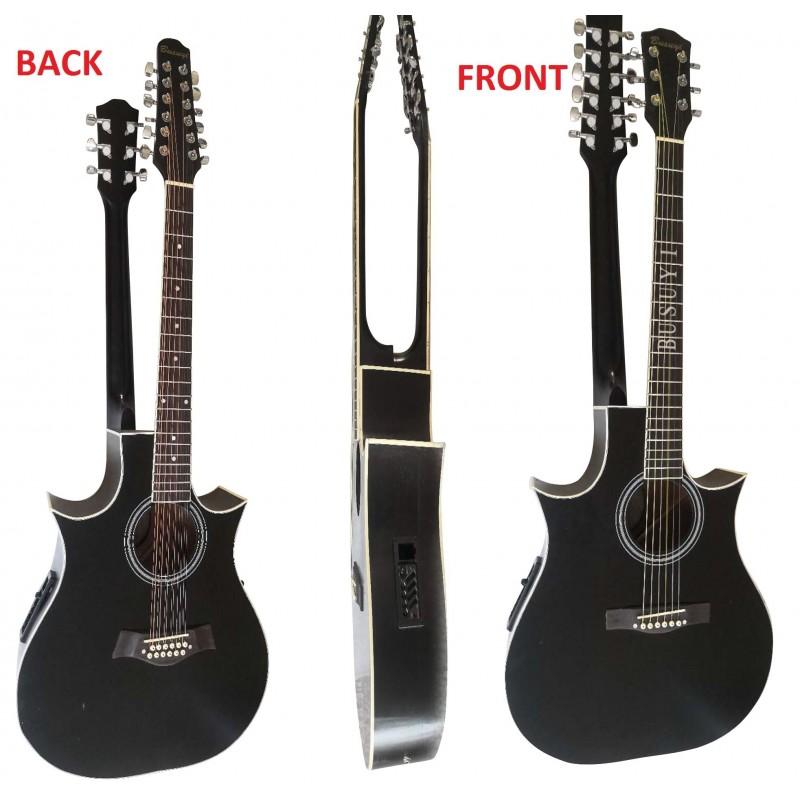 12 String / 6 String Acoustic/Electric Busuyi Guitar