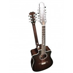 12 String / 6 String Acoustic/Electric Busuyi Guitar with XLR Input Onboard Tuner