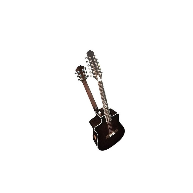 12 String / 6 String Acoustic/Electric Busuyi Guitar with XLR Input