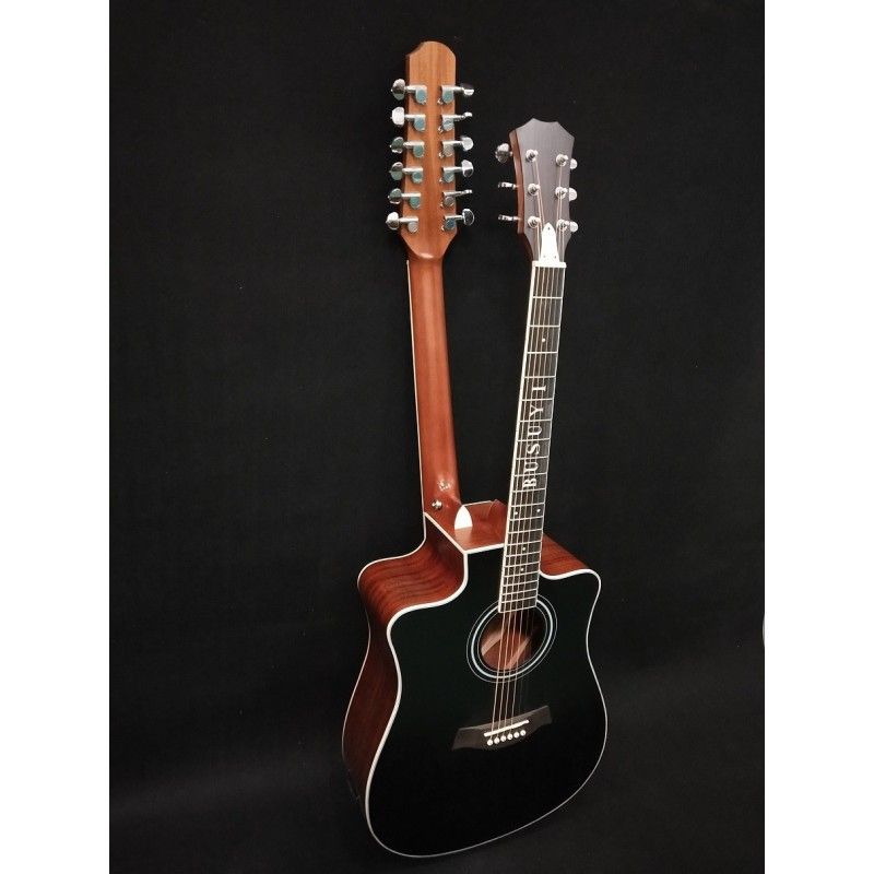 12/6 Strings Acoustic Double Neck, Double Sided Busuyi Guitar 2020 NPT