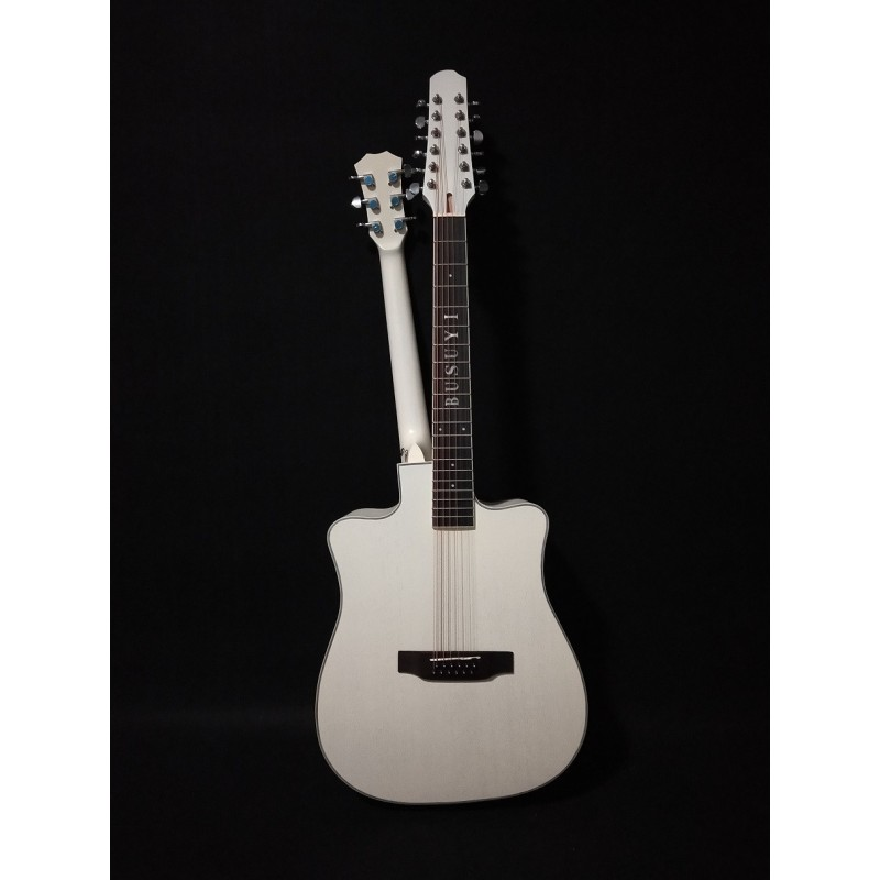 12/6 Strings Acoustic Double Neck, Double Sided Busuyi Guitar 2020 NPS