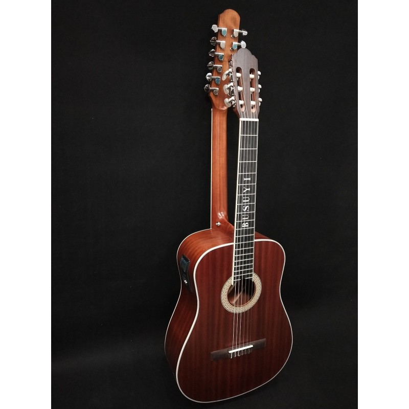 12/6 Strings Acoustic Double Neck, Double Sided Busuyi Guitar 2020 PTC