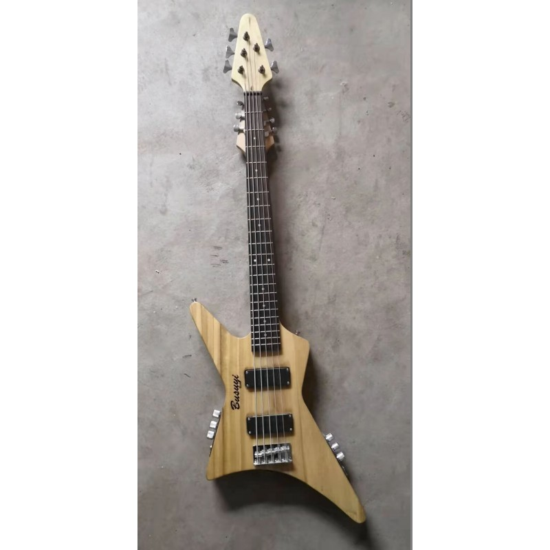 5 String Bass/ 7 String Lead Double Neck Busuyi Guitar Right
